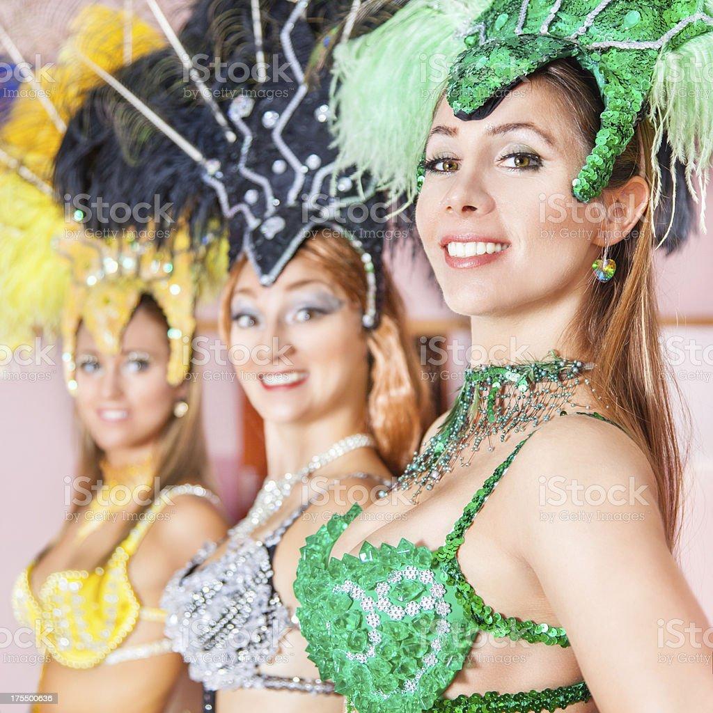 Samba dancers royalty-free stock photo
