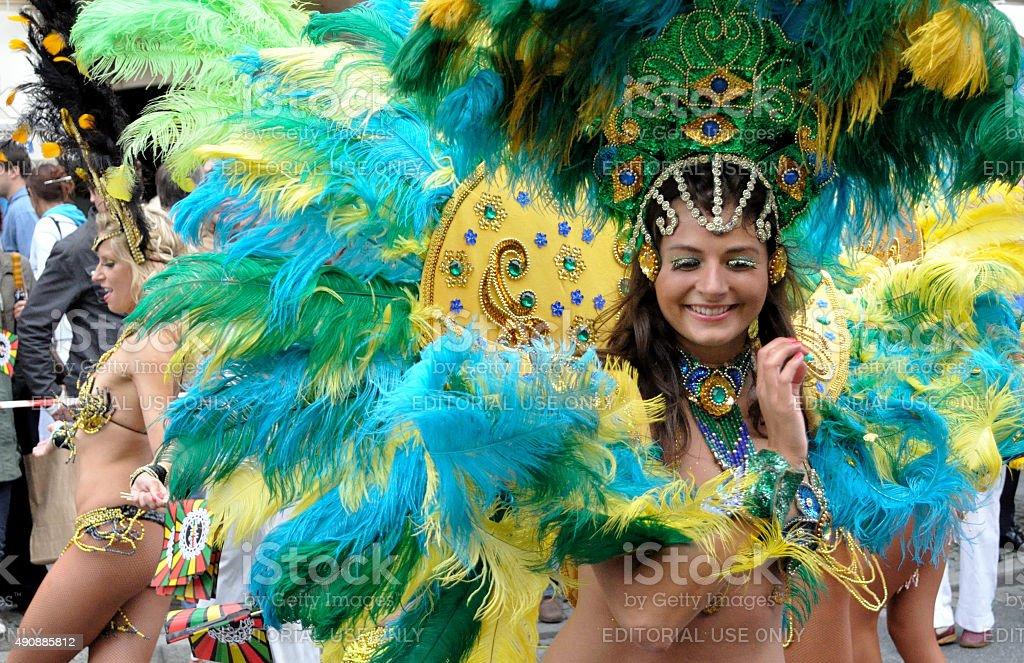 Samba dancers stock photo