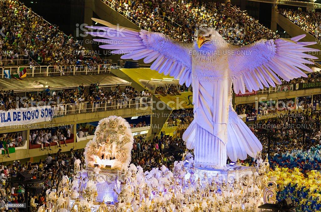 Samba Parade Float in Sambadromo, Rio de Janeiro, Brazil stock photo