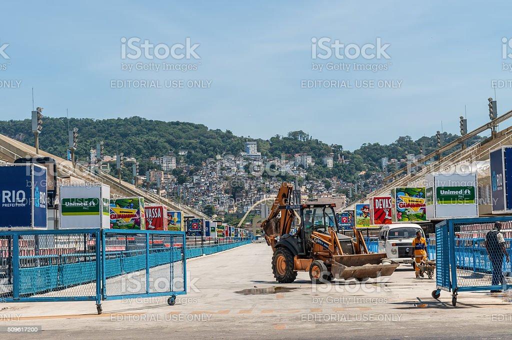 Sambadrome in Rio de Janeiro, Brazil stock photo