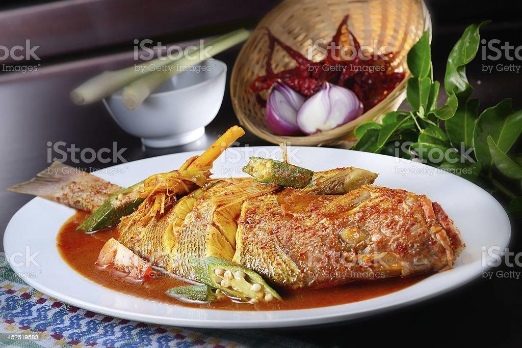 Sambal Fish stock photo