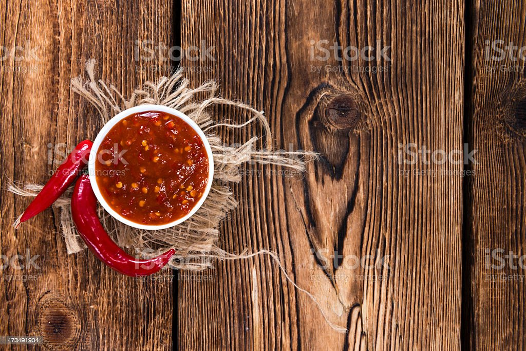 Sambal Oelek stock photo