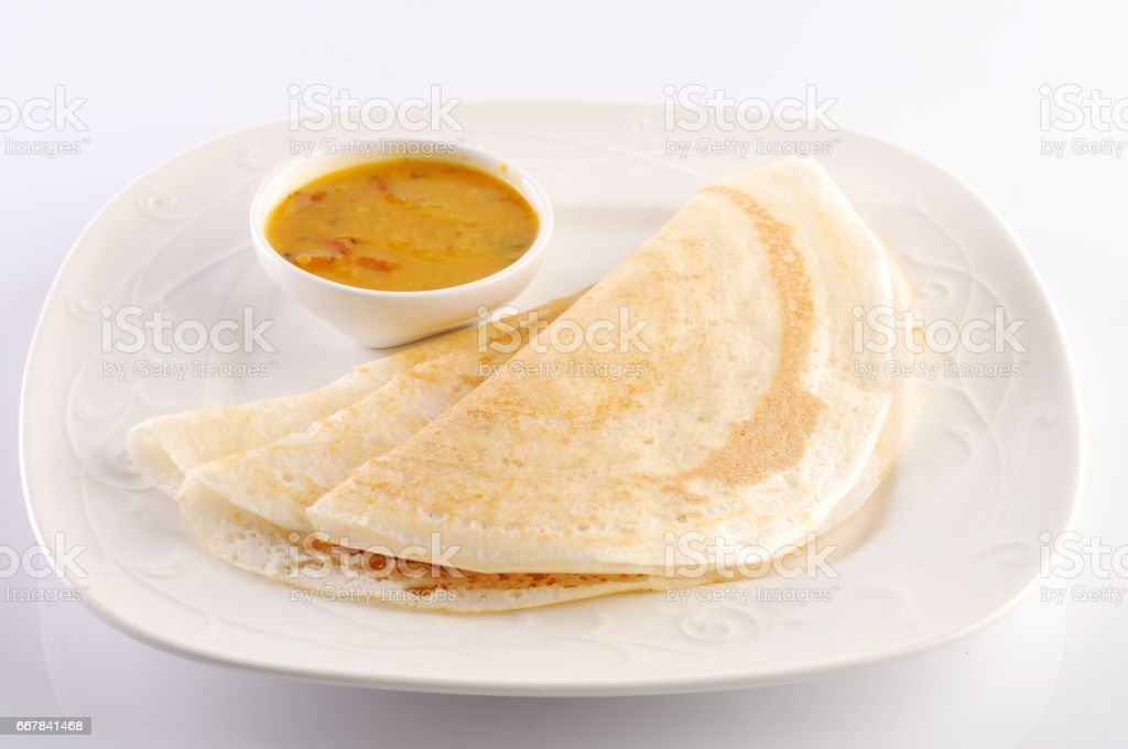 Sambar Dosa , South Indian Dish stock photo