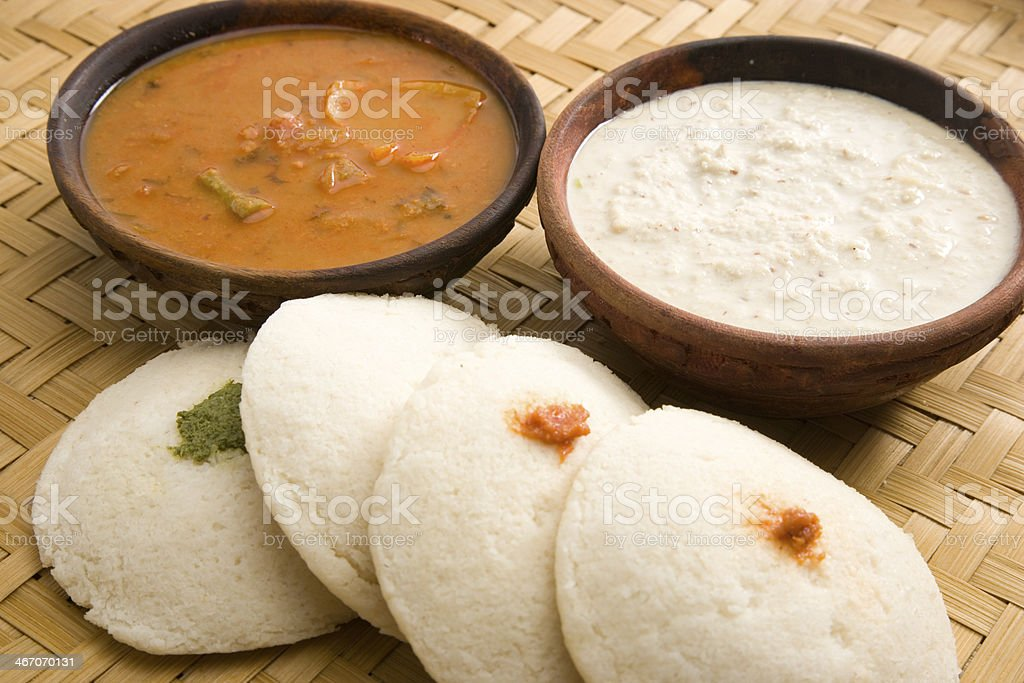 Sambar with Idli stock photo