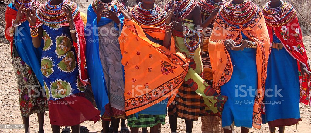 Samburu clothing royalty-free stock photo