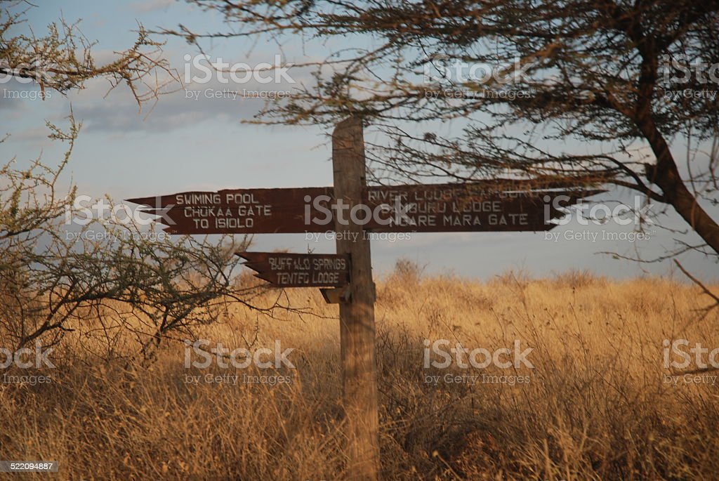Samburu National Park Sign, Kenya royalty-free stock photo