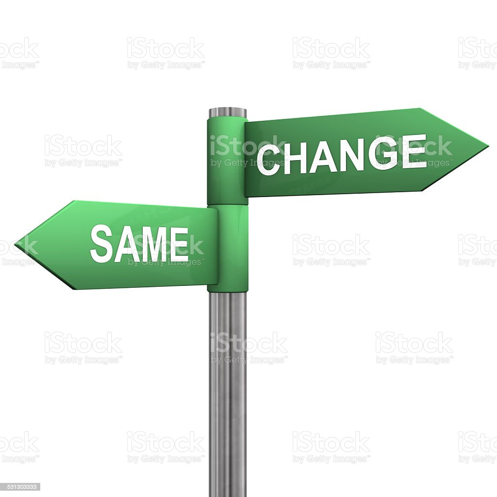 Same Change Directions stock photo