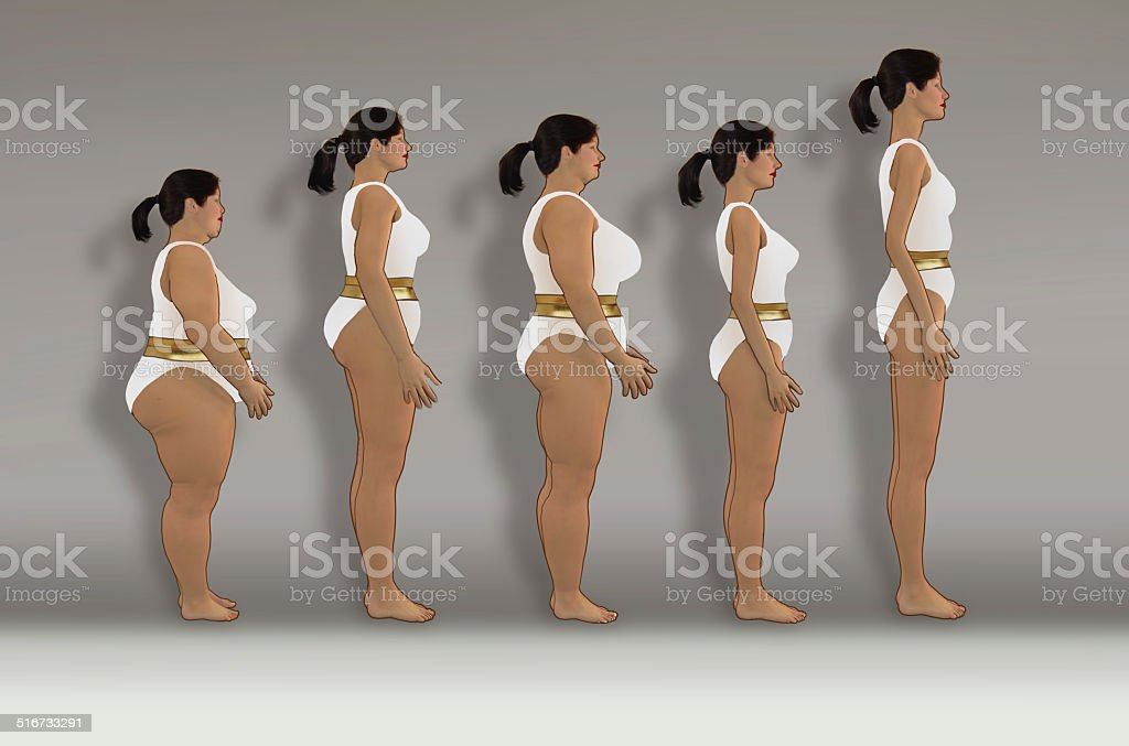 Same weight  different figures stock photo