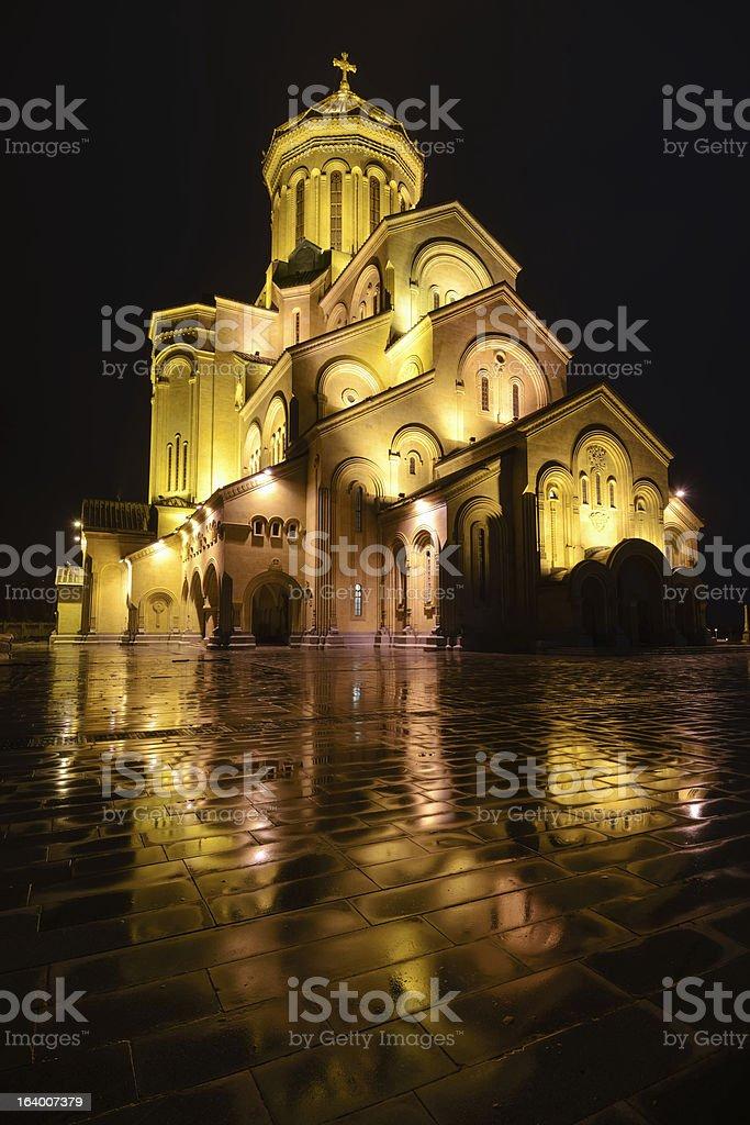 Sameba, St. Trinity cathedral in Tbilisi, Georgia royalty-free stock photo