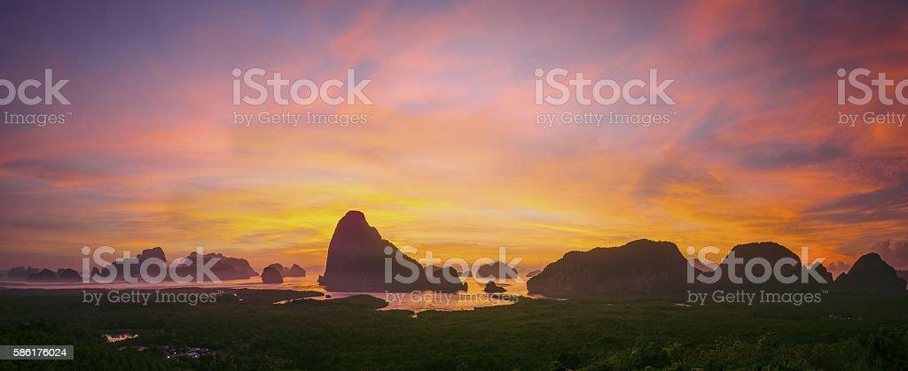 Samed Nang She panorama. stock photo