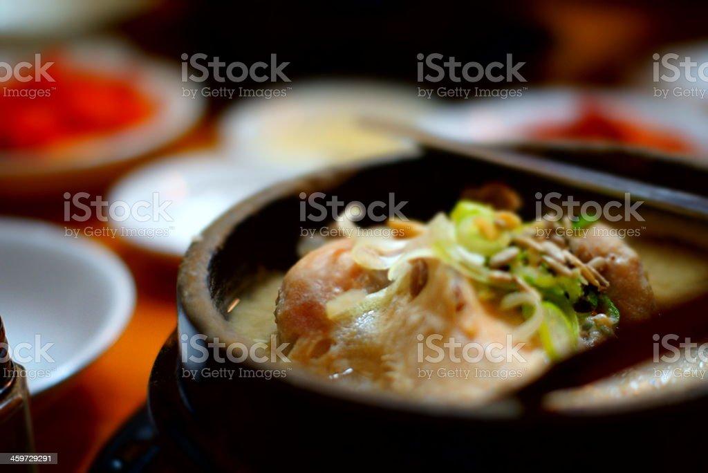 'Samgyetang' Korean Chicken Soup royalty-free stock photo