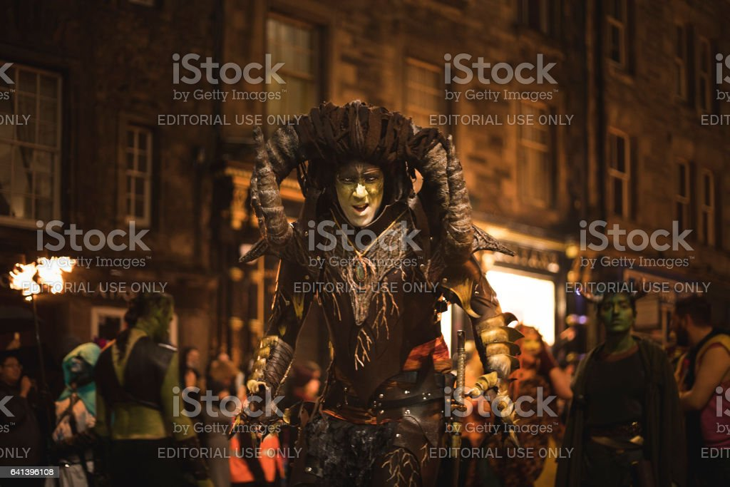 Samhuinn Fire Festival At Halloween in Edinburgh stock photo