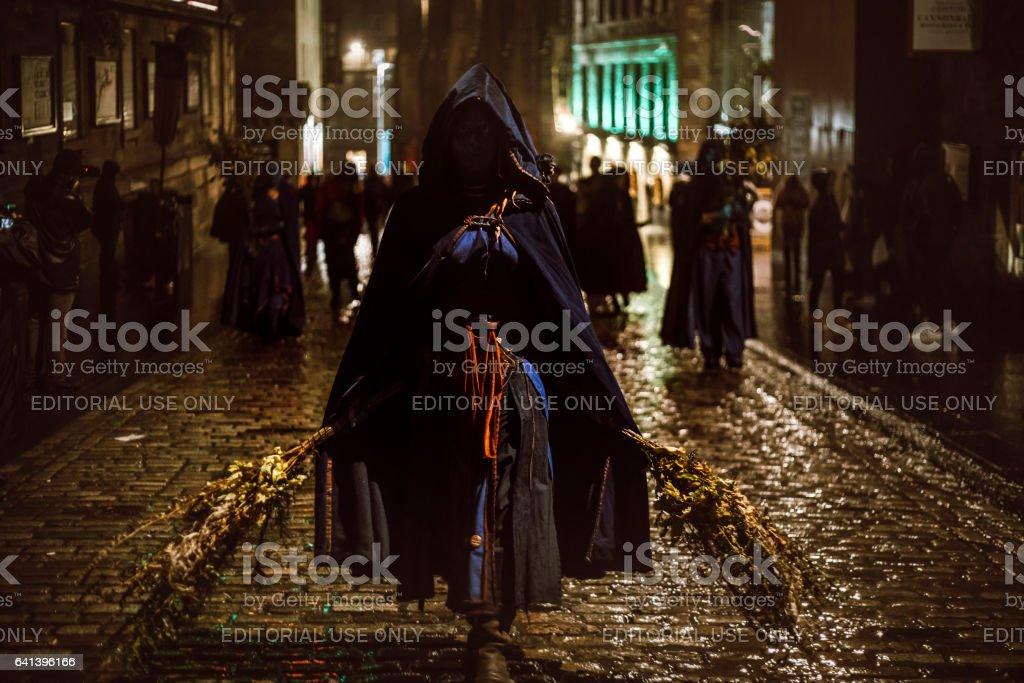 Samhuinn Fire Festival At Halloween in Edinburgh stock photo