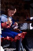 Sami Girl in Lapland