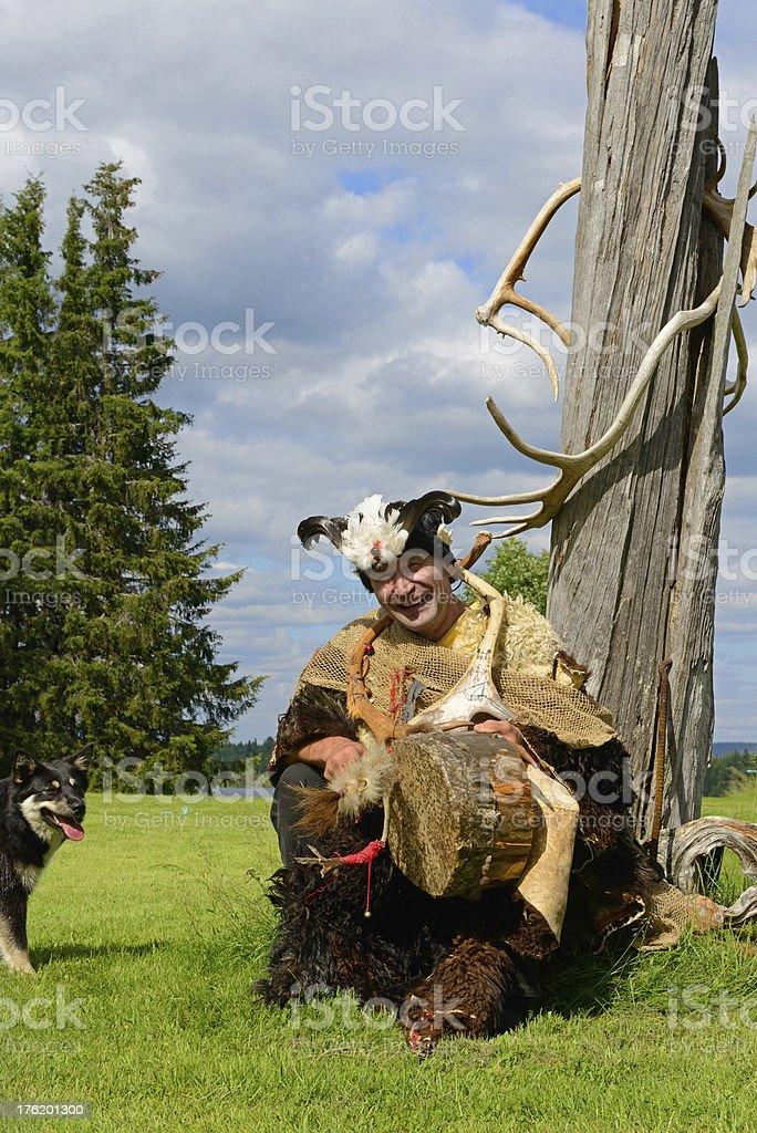 Sami shaman stock photo