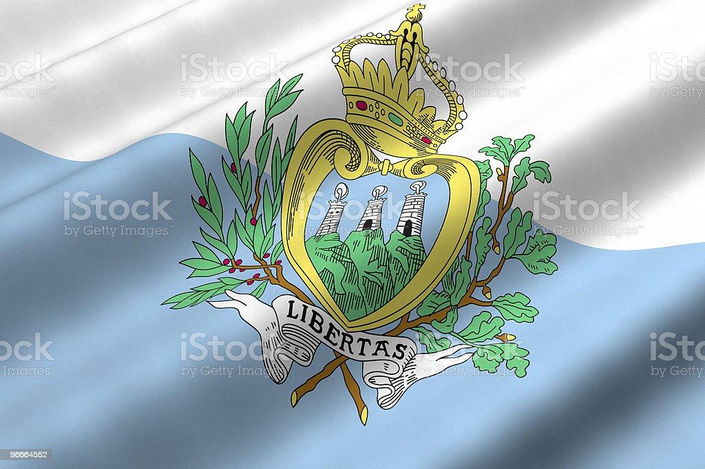 Sammarinese Flag royalty-free stock photo