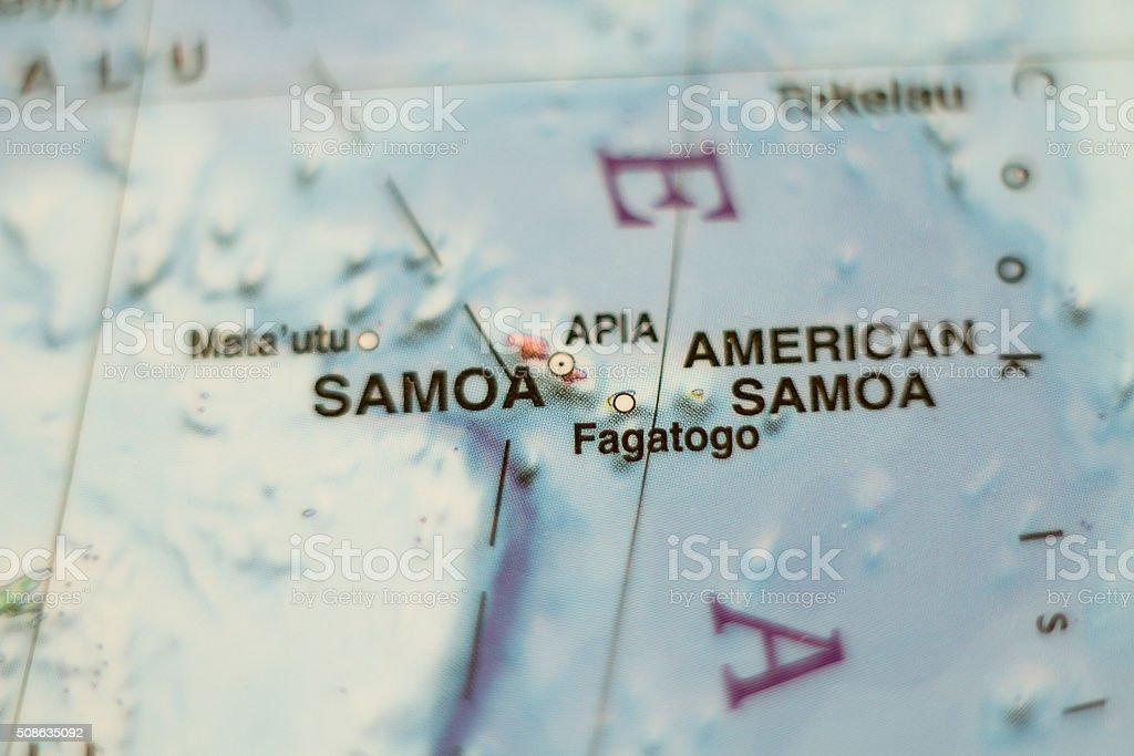 Samoa country map . stock photo