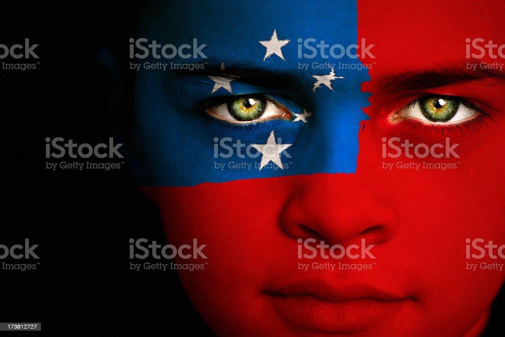 Samoa flag boy royalty-free stock photo