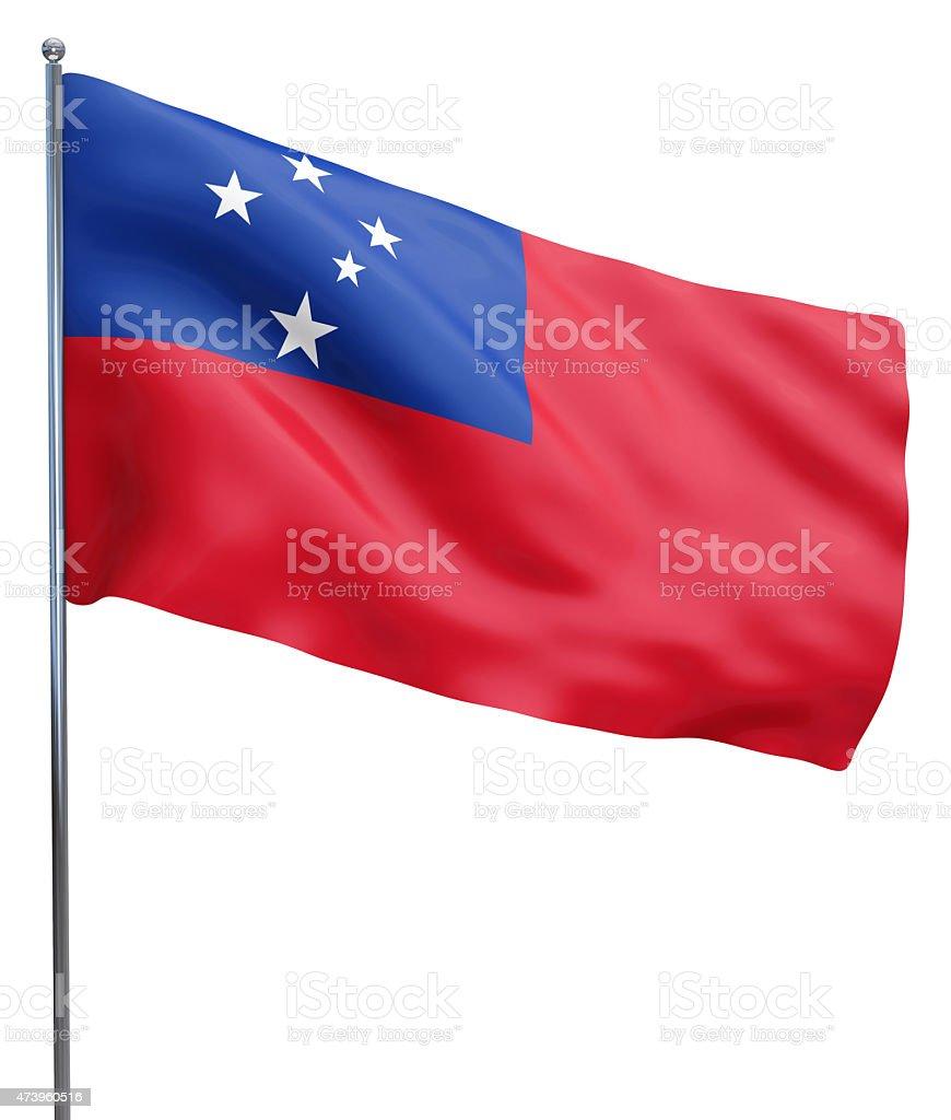 Samoa Flag Image stock photo