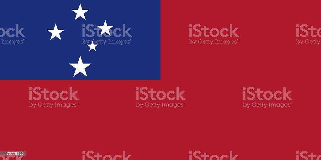 Samoa Flag stock photo