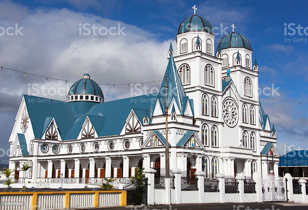 Samoa Methodist Church stock photo