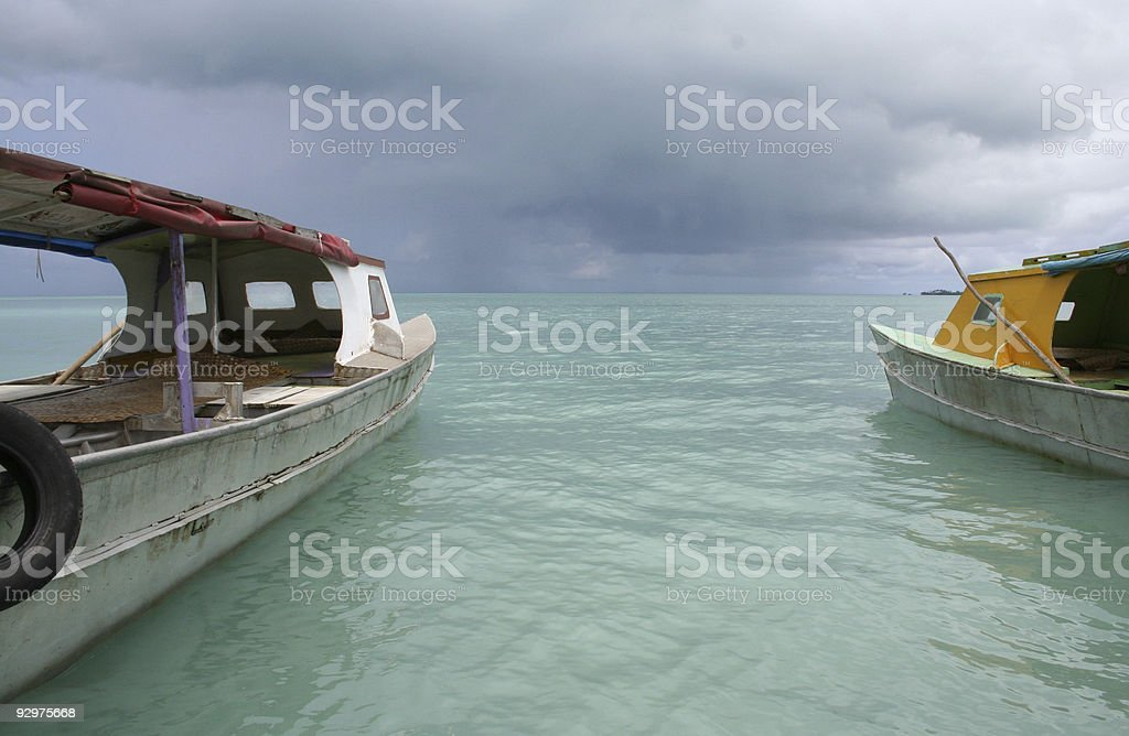 Samoan ferries stock photo
