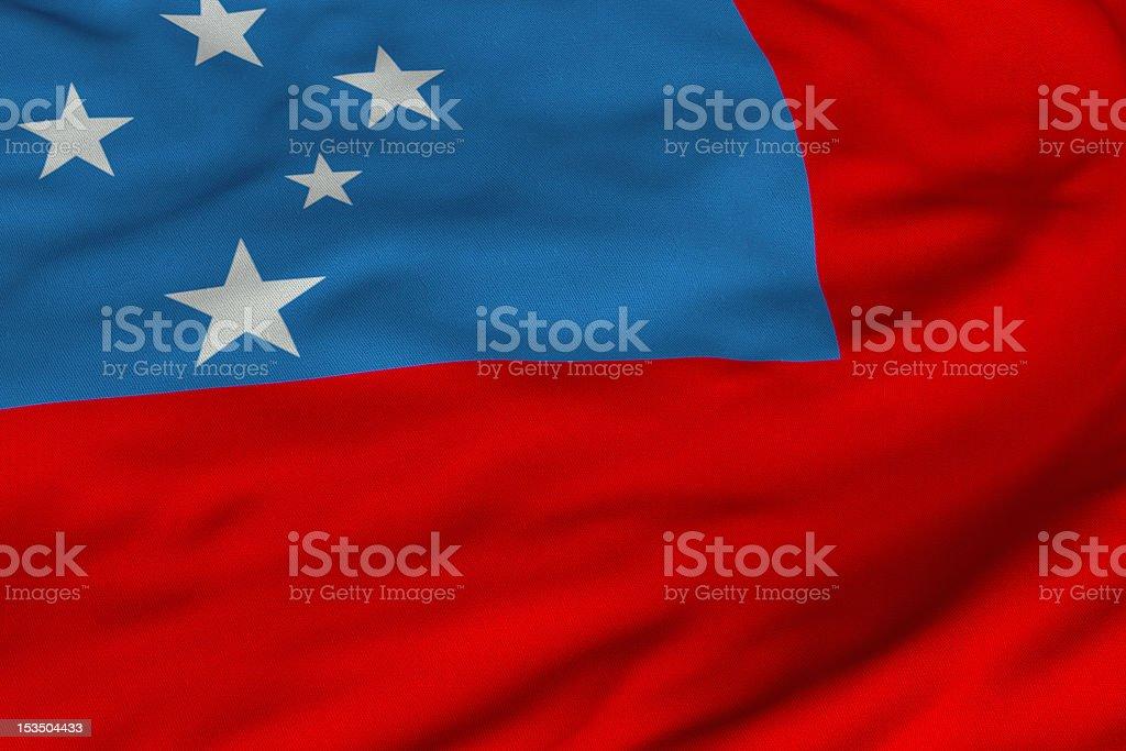 Samoan Flag stock photo