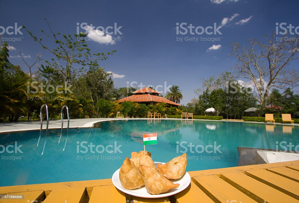 Samosa in Madhya Pradesh, India stock photo