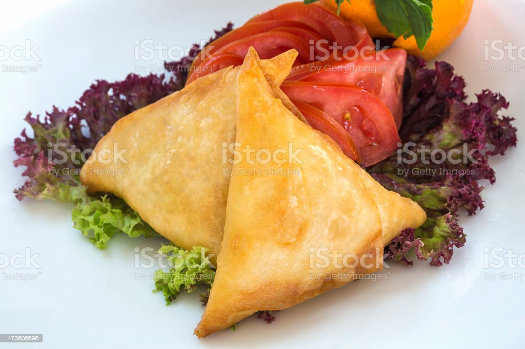Samosas stock photo