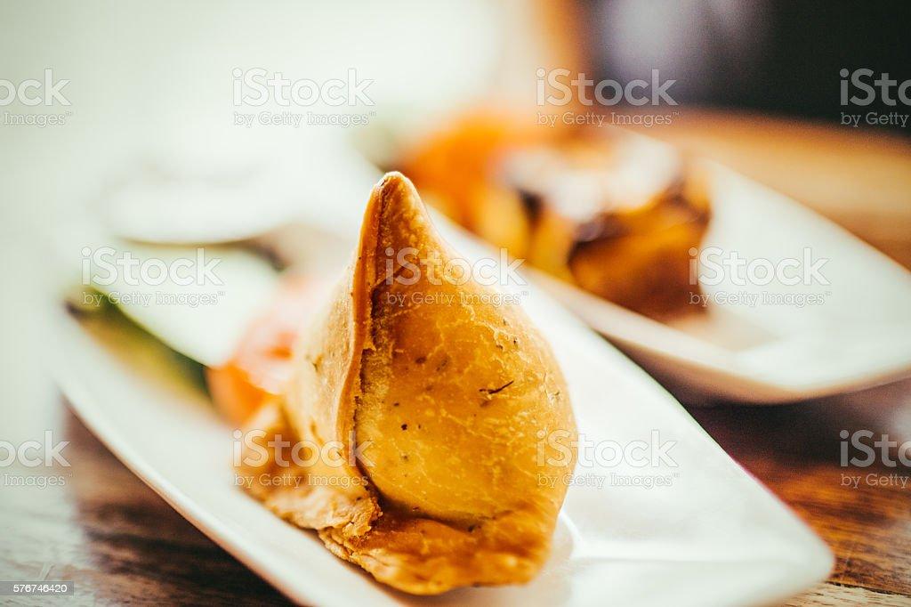 Samosas stock photo