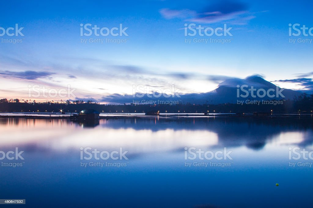 Sampaloc Lake stock photo
