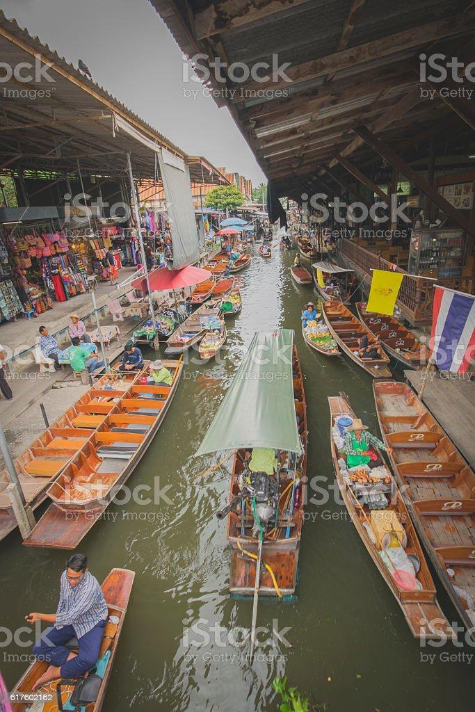 sampan stock photo