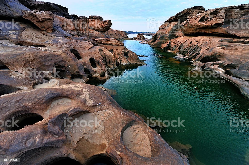 Sampanbok , the grand canyon of Thailand. royalty-free stock photo