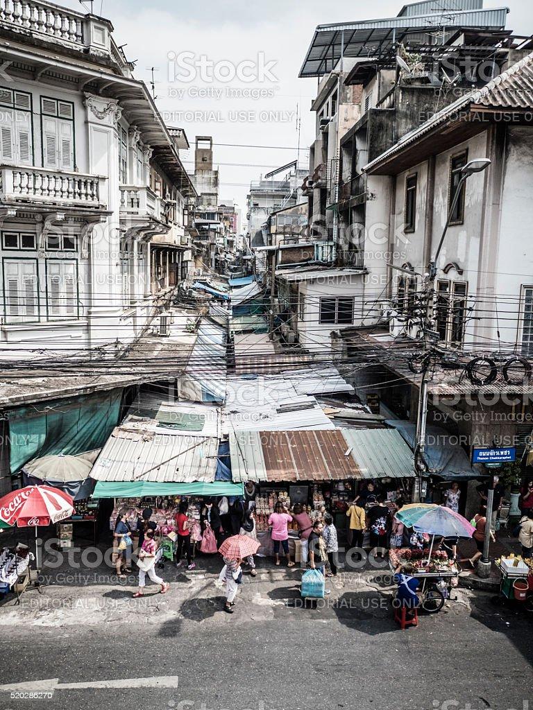 Sampeng Lane market in Chinatown Bangkok stock photo