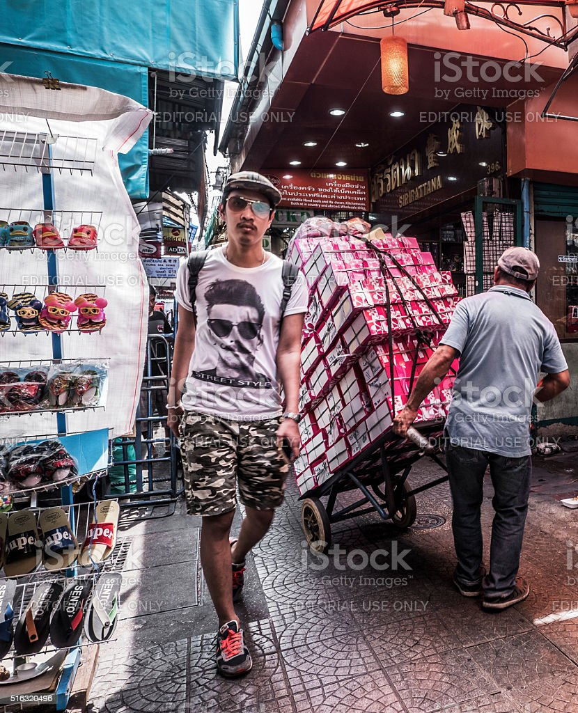 Sampeng market Chinatown Bangkok Thailand stock photo