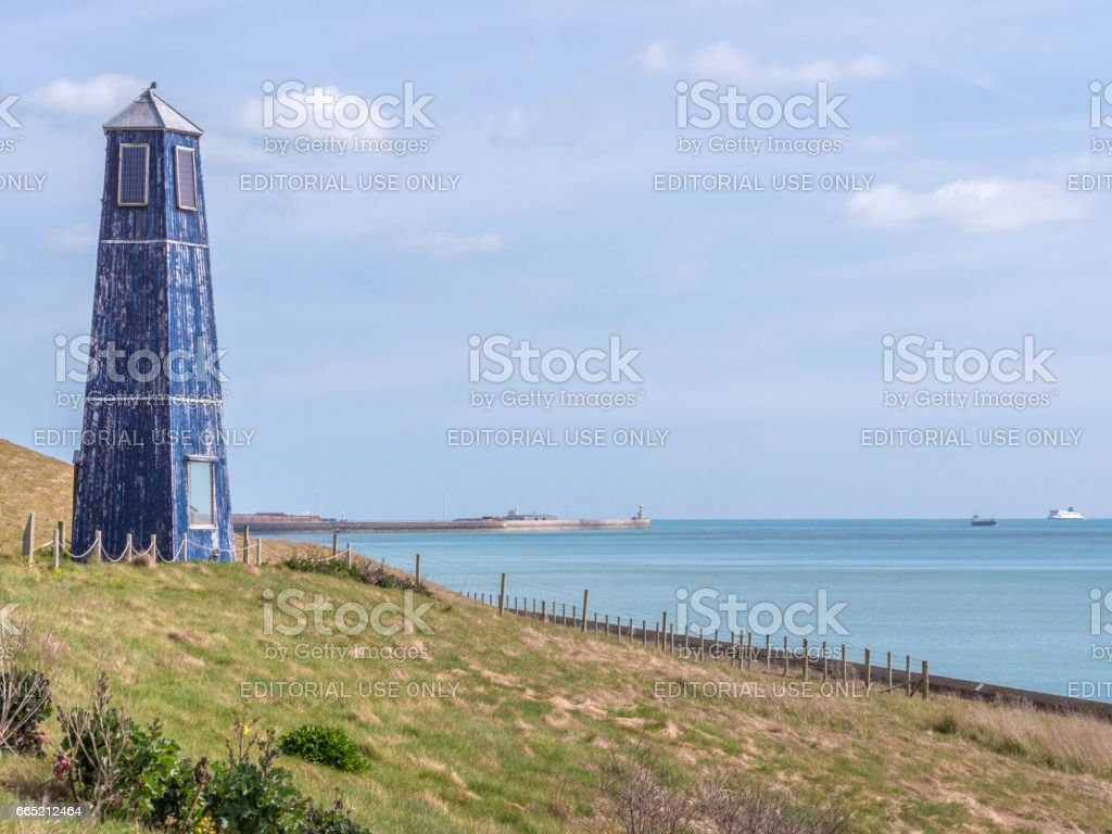 Samphire Hoe at Dover, Kent, UK stock photo
