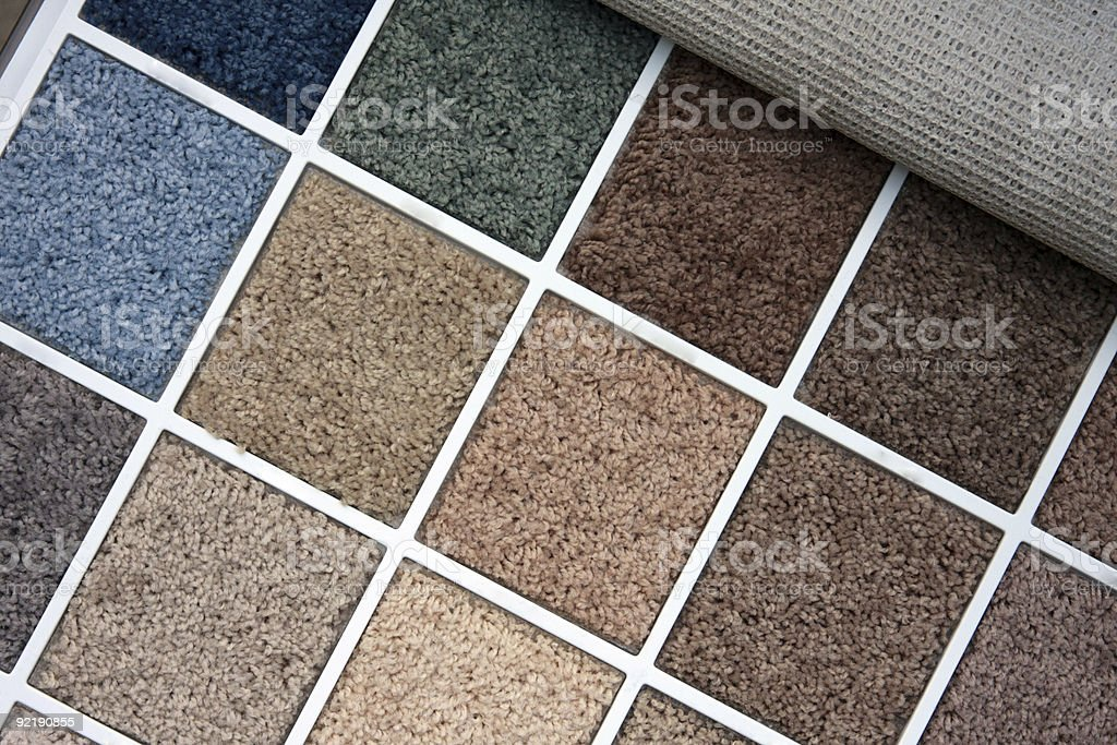 Sample book of different color carpets royalty-free stock photo
