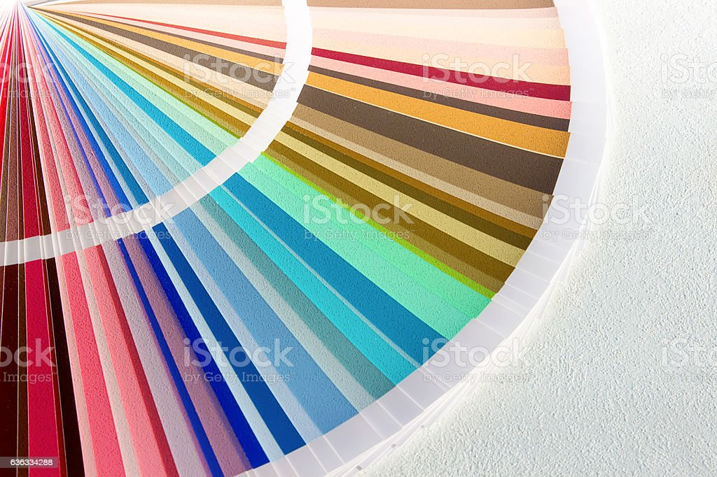 Sample Colors Catalog. Color Palette Guide stock photo