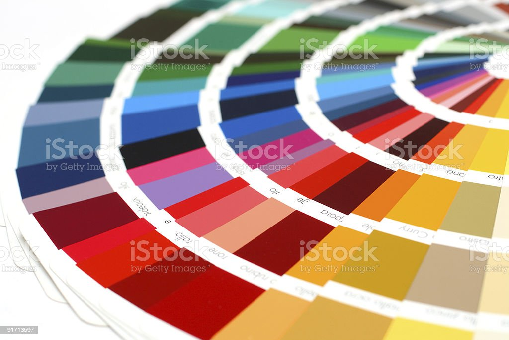 RAL sample colors catalogue royalty-free stock photo