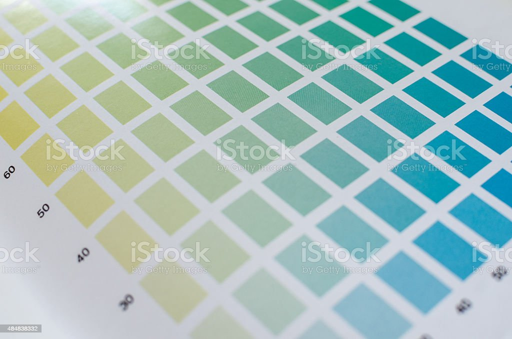 Sample Colors Page stock photo