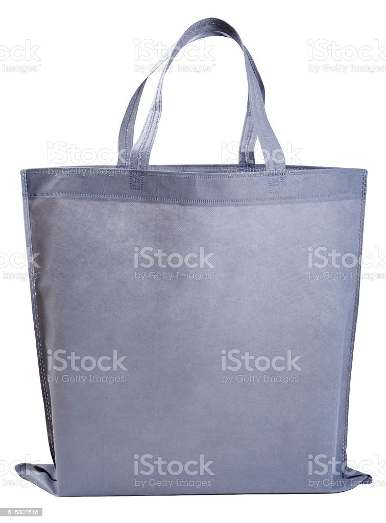 Sample gray non-woven bag stock photo