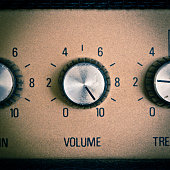 A sample of a retro mood with volume knob turned to maximum