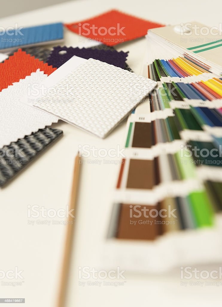 Samples colors and fabrics royalty-free stock photo