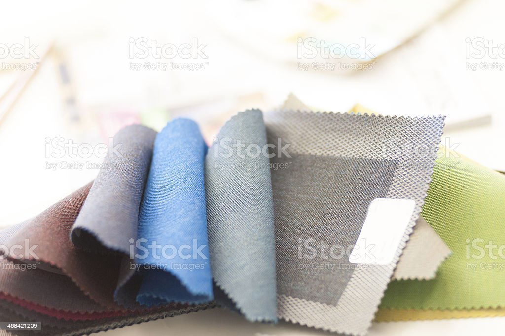 Samples fabric and colors royalty-free stock photo