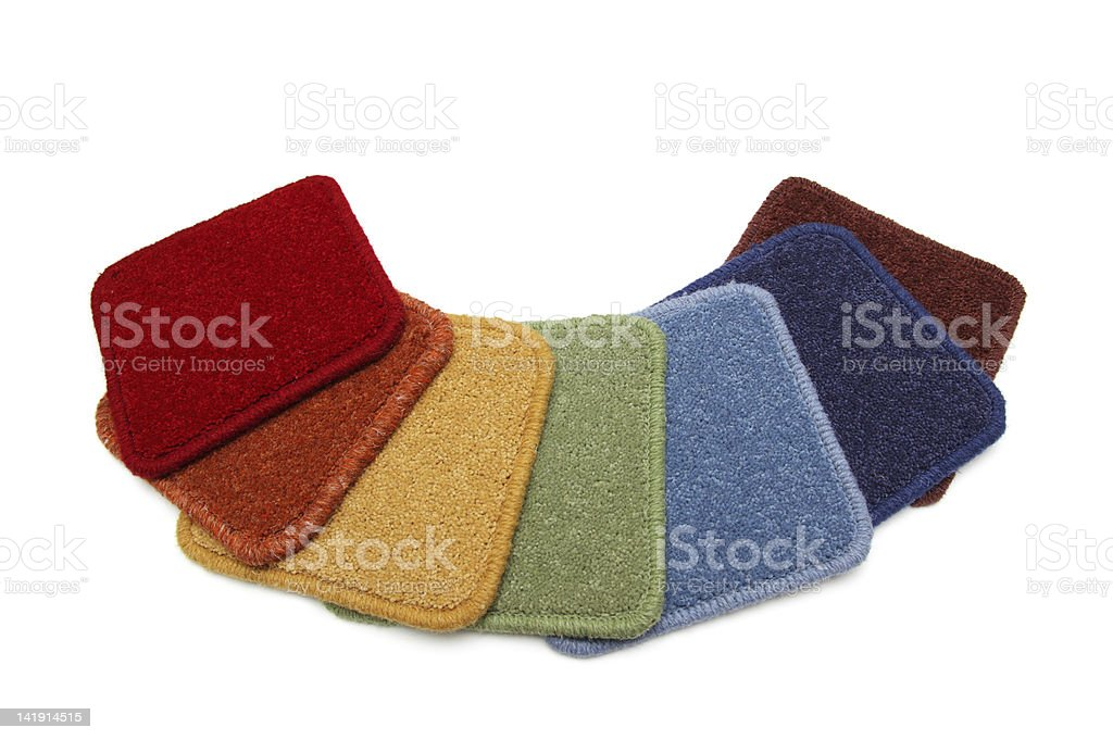 Samples of carpets stock photo