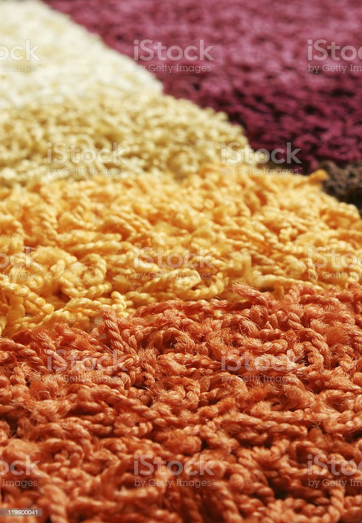 Samples of collection carpet royalty-free stock photo