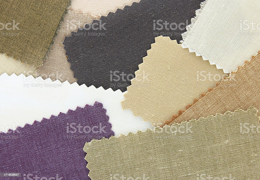 Samples of colored canvas fabric Texture royalty-free stock photo
