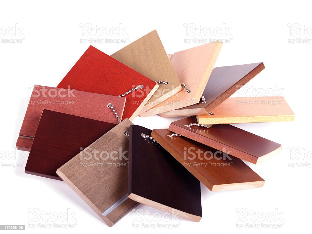 samples of wood stain swatches royalty-free stock photo