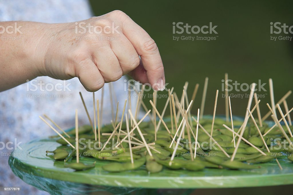 Sampling Soybeans stock photo
