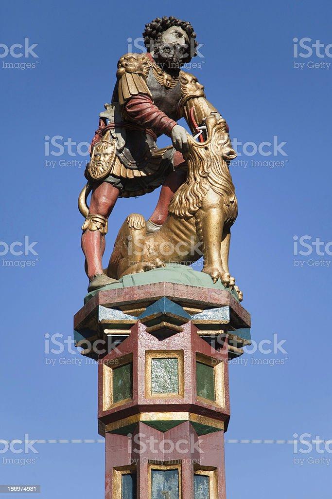 Samson Fountain in Bern royalty-free stock photo